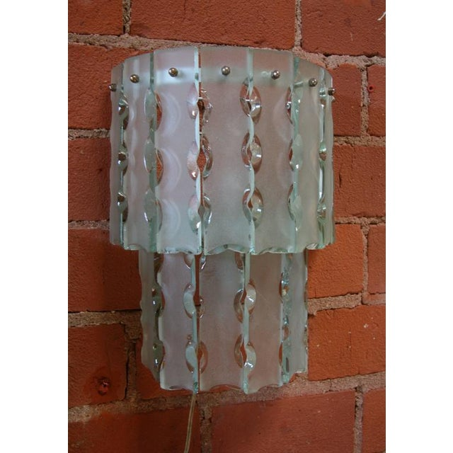 Pair of Italian Beveled Glass Sconces by Cristal Art For Sale In Los Angeles - Image 6 of 7