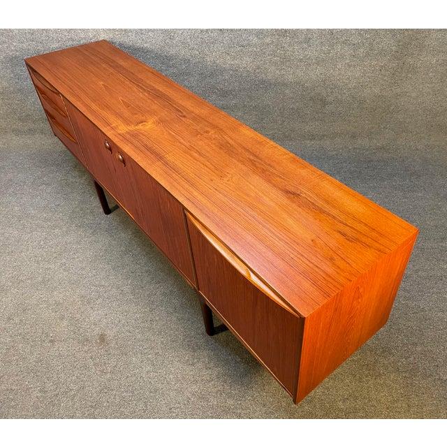 "Brown Vintage British Mid Century Modern Teak ""Dunottar"" Credenza by McIntosh For Sale - Image 8 of 12"
