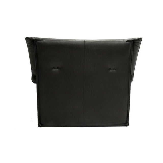 Mid-Century Modern Afra and Tobia Scarpa for B & B Italia Black Leather Lounge Chair For Sale - Image 3 of 7