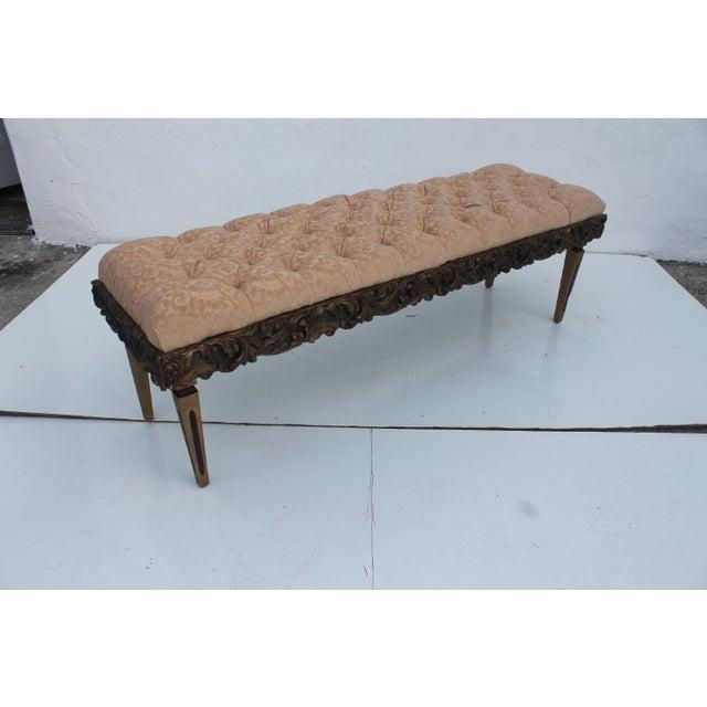 Dorothy Draper Dorothy Draper Regency-Style Tufted Bench For Sale - Image 4 of 9