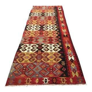 Vintage Turkish Kilim Runner For Sale