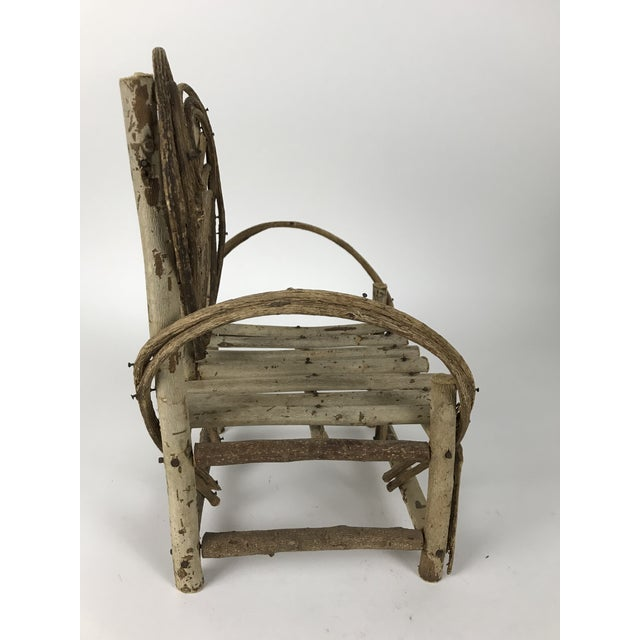 Bent Twigs Heart Chair Plant Stand For Sale - Image 4 of 10