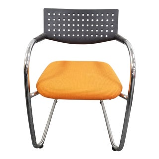Contemporary Vitra Chrome and Plastic Side Chair