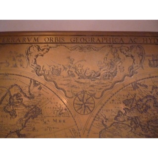 Handmade Bronze Brass Map - Image 3 of 7