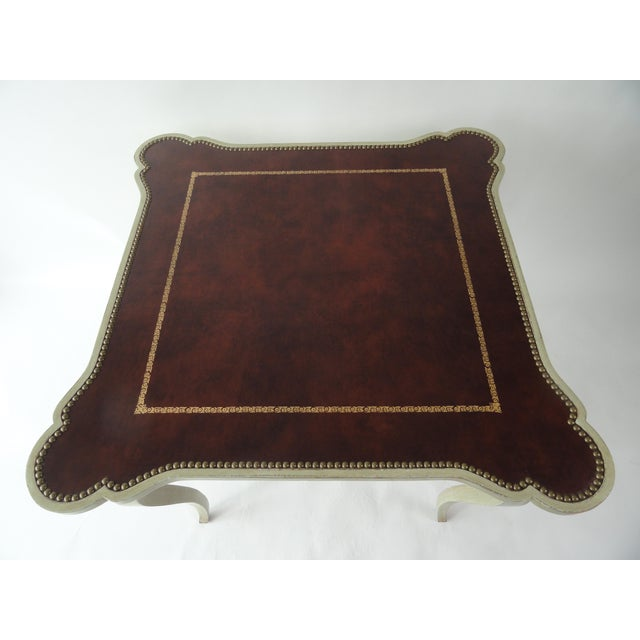 Minton-Spidell 1980s Traditional Minton-Spidell Game Table For Sale - Image 4 of 10