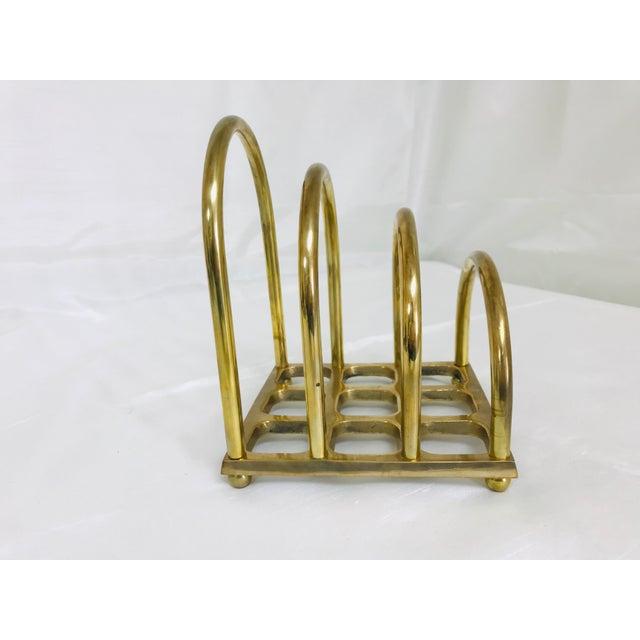 1960s 1960s Art Deco Brass File/Letter Holder Desk Accessory For Sale - Image 5 of 8