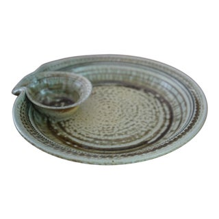 Handmade Pottery Appetizer Plate For Sale