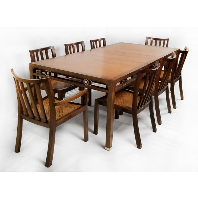 1960's Baker Far East Collection Dining Room Table and Chairs by Michael Taylor For Sale - Image 13 of 13