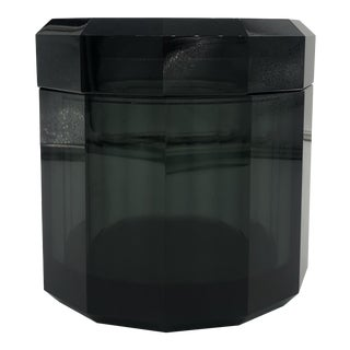 Anthracite Crystal Tissue Box For Sale