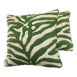"Contemporary Thibaut Serengeti Printed Pillows - a Pair, 20""x20 For Sale"