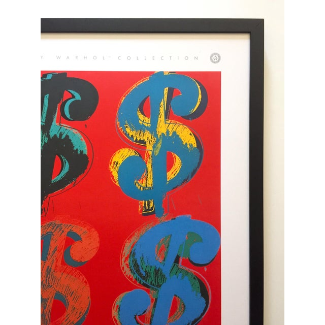 """Andy Warhol Estate Rare Vintage 1989 1st Edition Lithograph Print Large Framed Pop Art Poster """" Dollar Signs """" 1982 For Sale - Image 9 of 13"""