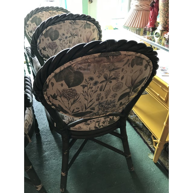 McGuire McGuire Original Green Twisted Rattan Chairs-6 For Sale - Image 4 of 13
