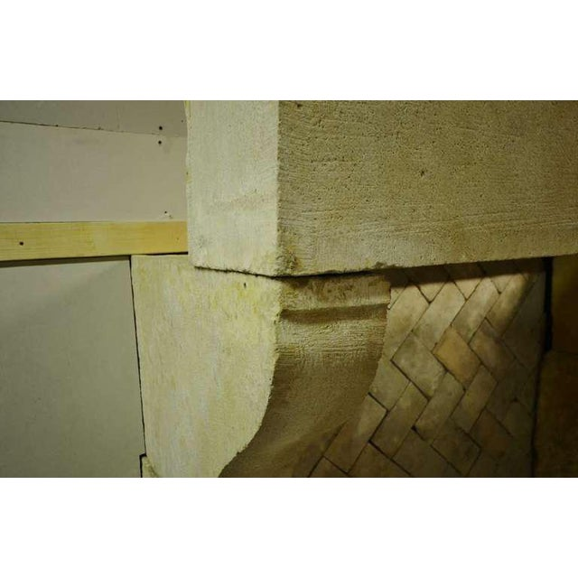 French 19th Century French Limestone Fireplace For Sale - Image 3 of 4
