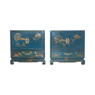 1950s Chinoiserie Nightstands - A Pair For Sale