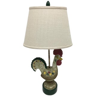 Paul Hanson Rooster Table Lamp For Sale