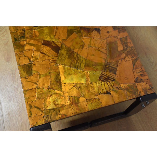 Lafer Brazilian Rosewood and Copper Coffee Table - Image 7 of 11