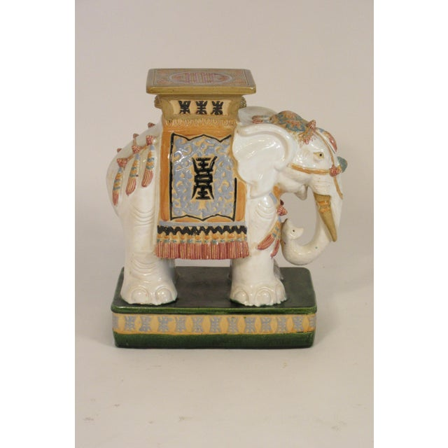 1960s Italian Ceramic Elephant Garden Stool For Sale In New York - Image 6 of 13