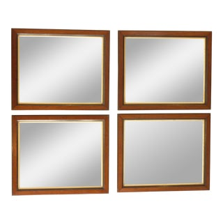 19th Century Walnut Wall Mirror Ensemble - Set of 4