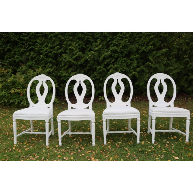 1900 - 1909 1900s Vintage Swedish Gustavian Style Dining Chair (16 Available) For Sale - Image 5 of 10