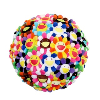 Takashi Murakami Pop Flower Ball Plush 2008 Ltd Edition Collector's Art Basel For Sale
