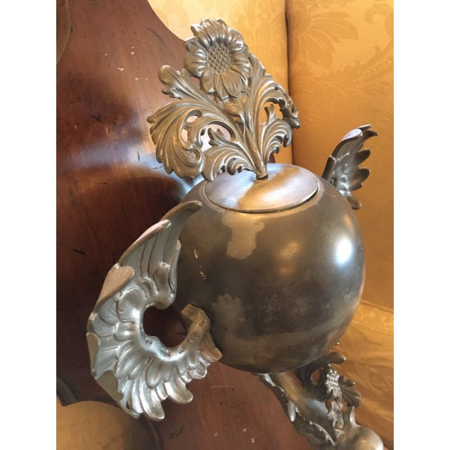 Antique German Pewter & Walnut Lavado For Sale In Minneapolis - Image 6 of 10