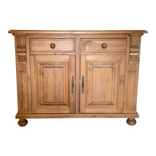 20th Century European Pine Storage Cabinet For Sale