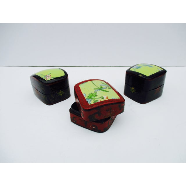 Asian Lacquer Porcelain Boxes - Set of 3 - Image 2 of 10