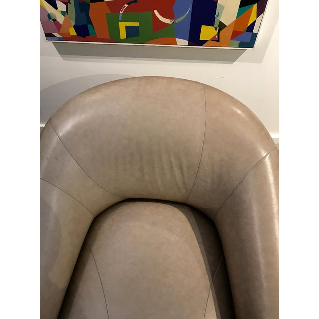 Tan A. Rudin Leather Swivel Chairs - a Pair For Sale - Image 8 of 13