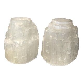 Crystal Tea Light Candle Holders - A Pair For Sale