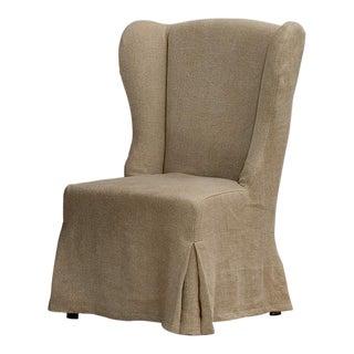 Sarreid Ltd. Duchess Wheat Linen Dining Chair For Sale