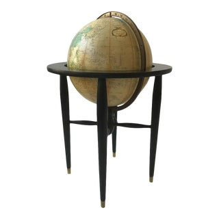 Midcentury Replogle Globe on Stand For Sale