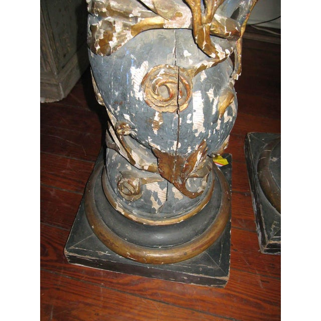 Pair of 17th Century Columns For Sale - Image 9 of 12