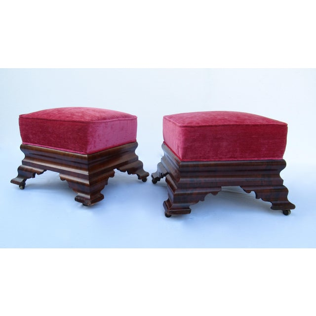 C.1840s-90s, Vintage Joseph Meeks & Sons Mahogany Ottomans - a Pair For Sale - Image 13 of 13