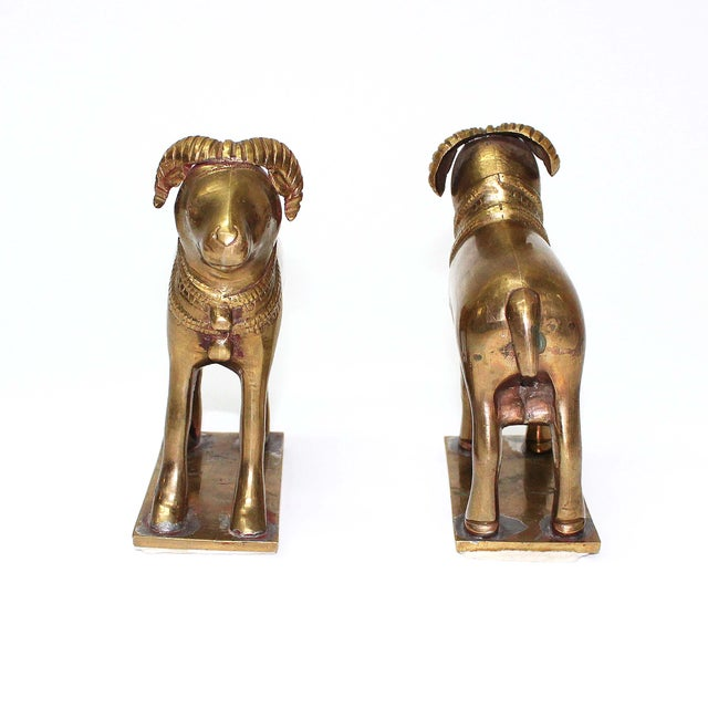 Late 20th Century Early 20th Century Ram Bookends - A Pair For Sale - Image 5 of 5
