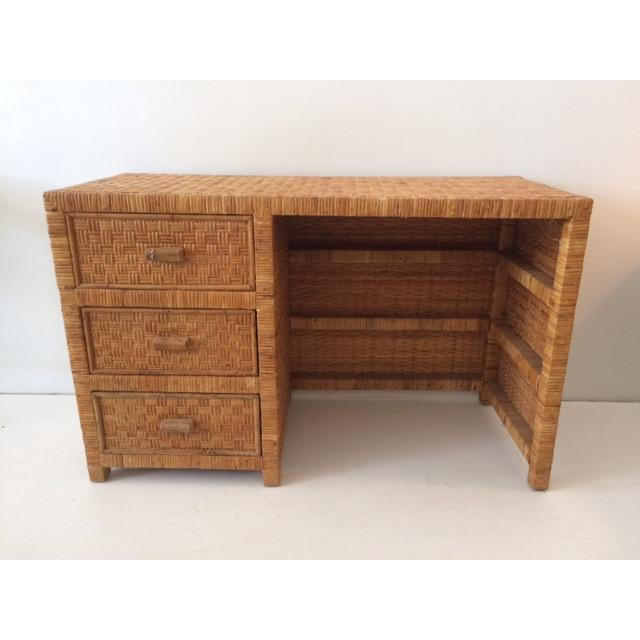 1980s Boho Chic Bielecky Brothers Writing Desk For Sale - Image 13 of 13