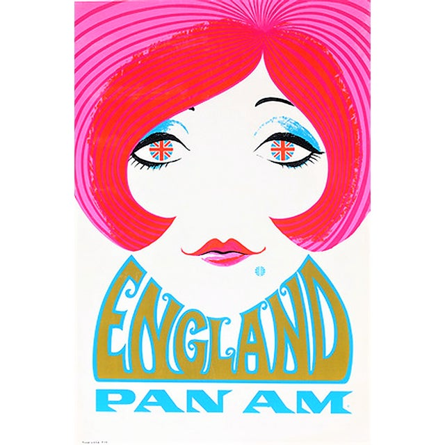 Reproduction Pan Am England Travel Poster - Image 4 of 4