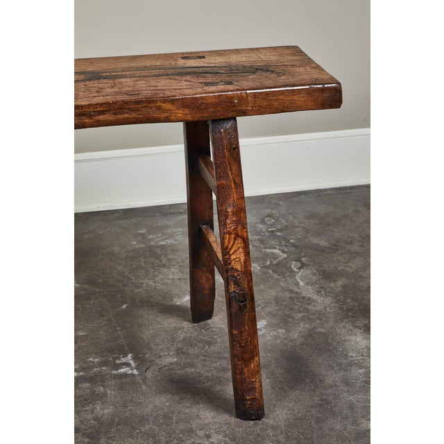 18th C. Chinese Poplar Elm Altar Table For Sale In Los Angeles - Image 6 of 8