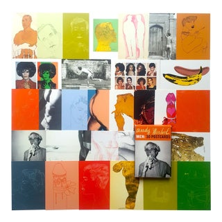 "Andy Warhol Foundation Rare Vintage "" Men "" Collector's Pop Art Postcard Prints - Boxed Set of 30 For Sale"
