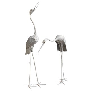 Monumental Art Deco Flamingo Sculptures - A Pair Circa 1950s For Sale