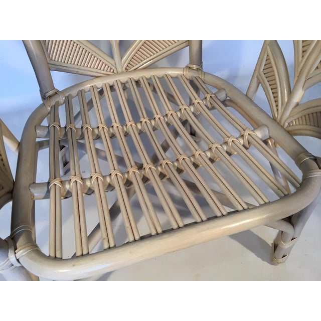 Mid Century Rattan Palm Tree Back Chair - 10 Available For Sale - Image 9 of 12