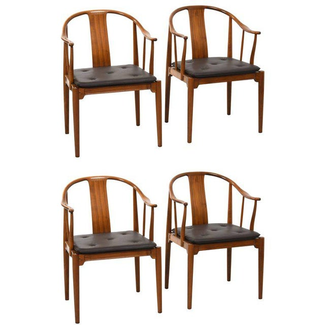 Hans J. Wegner China Chairs for Fritz Hansen, Set of Four, Circa 1944 For Sale - Image 10 of 10