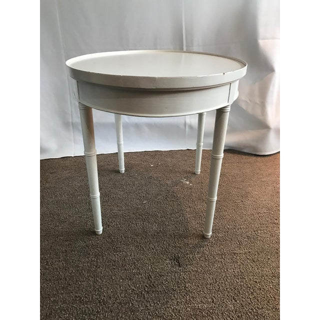 Maison Jansen Style White Wooden Side or Coffee Table - Image 4 of 6