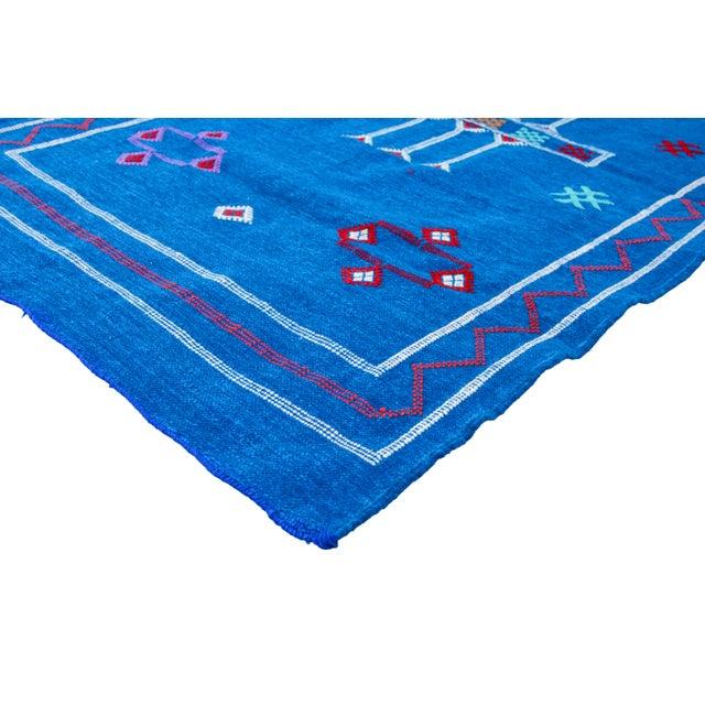 Blue Moroccan Silk Rug - 5'1'' x 3' - Image 2 of 4