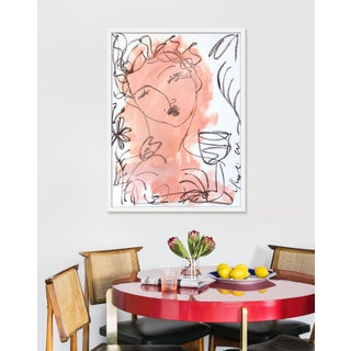 """Medium """"Flowers and Wine in Salmon"""" Print by Leslie Weaver, 25"""" X 32"""" Preview"""