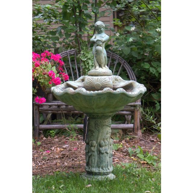 Pre-1963 Vintage Henri Studios Stone Cherub Estate Fountain - Image 2 of 11
