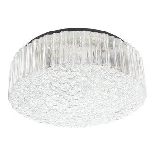 Pair of Glashütte Limburg Glass Flush Mounts Ceiling Lights, Germany, 1960 For Sale