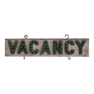 Vacancy Sign For Sale
