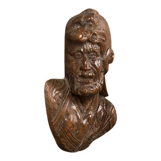19th Century Carved Figure of Cavelier For Sale