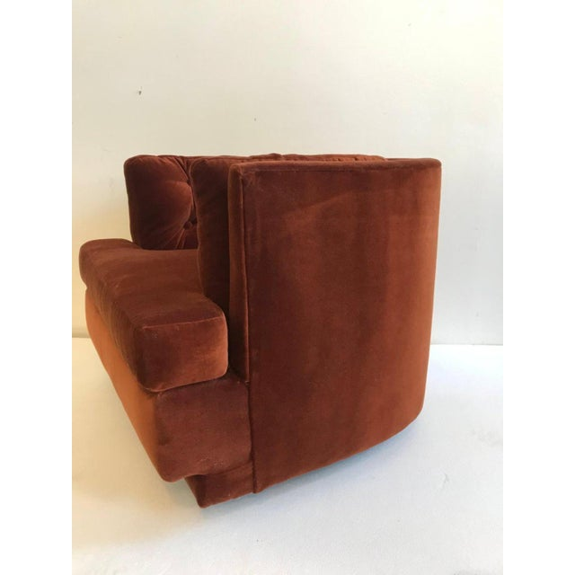 Incredible Burnt Orange Tufted Swivel Chair By Milo Baughman Chairish Squirreltailoven Fun Painted Chair Ideas Images Squirreltailovenorg