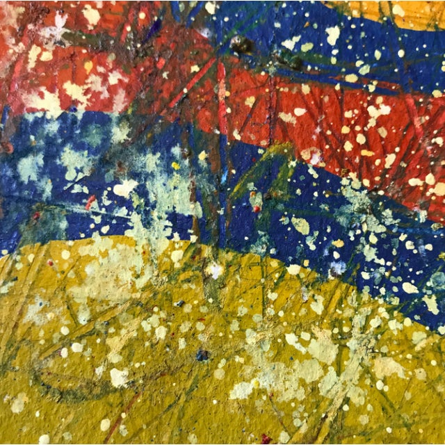 Abstract Jennifer Mack Abstract Splatter Painting For Sale - Image 3 of 6